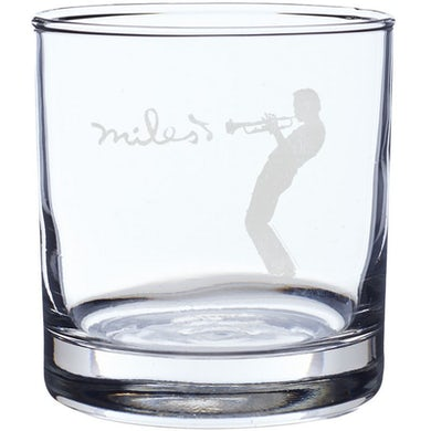 Miles Davis Silhouette Laser-Etched Whiskey Glass