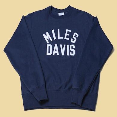Miles Davis Crewneck Navy Sweatshirt
