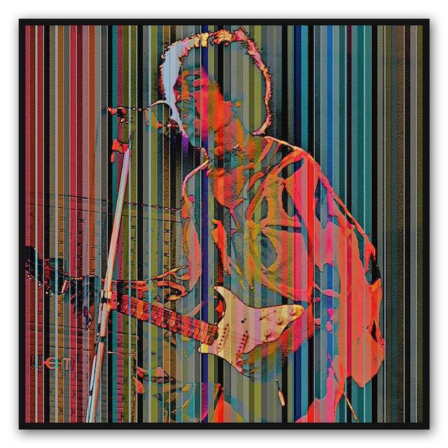 Jimi Hendrix Spectrum Canvas Wall Art