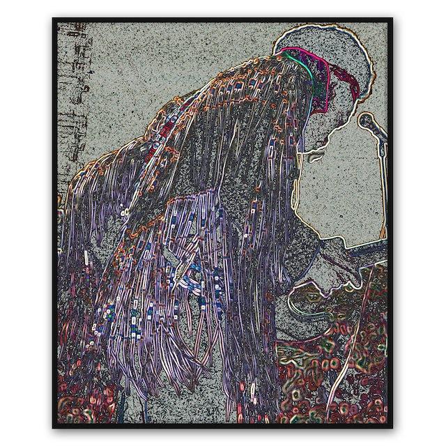 Jimi Hendrix Fringes Canvas Wall Art