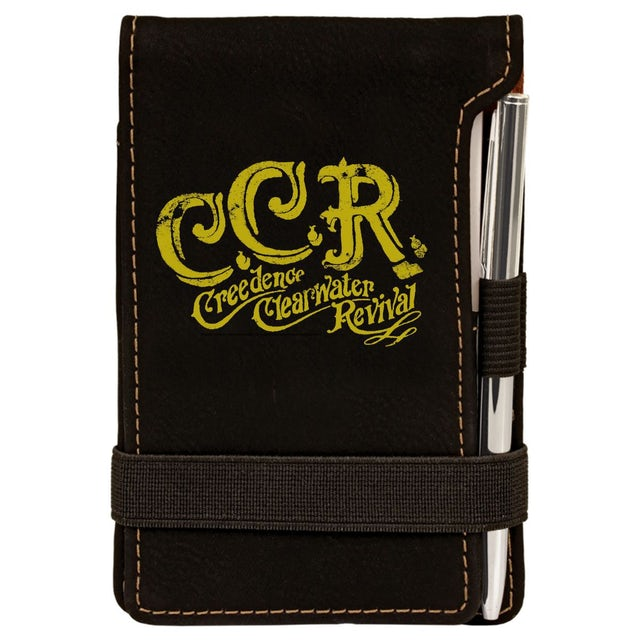 Creedence Clearwater Revival Scripted Logo Laser Engraved Notepad w/Pen