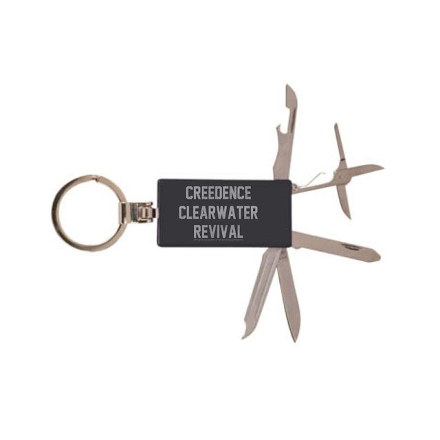 Creedence Clearwater Revival Collegiate Laser Engraved Tool Keychain