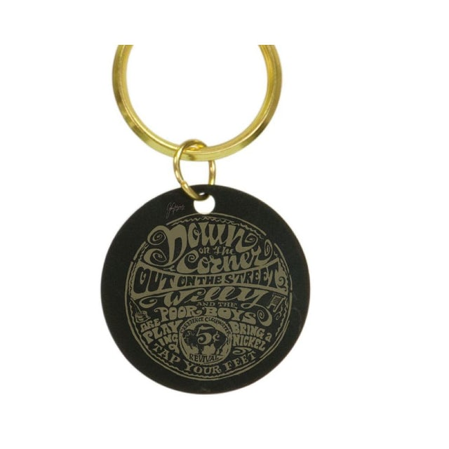 Creedence Clearwater Revival Down On The Corner Brass Keychain