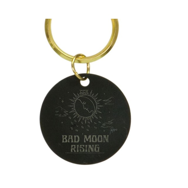 Creedence Clearwater Revival Bad Moon Sun Brass Keychain