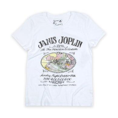 Janis Joplin Janis Live At The Houston Coliseum Tee