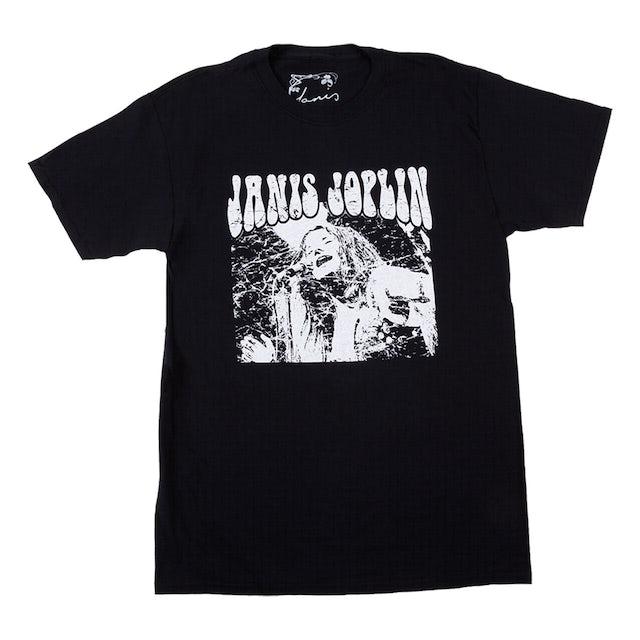 Janis Joplin Photo Black T-Shirt