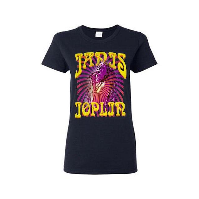 Janis Joplin Psychedelic Swirl LadiesT-Shirt