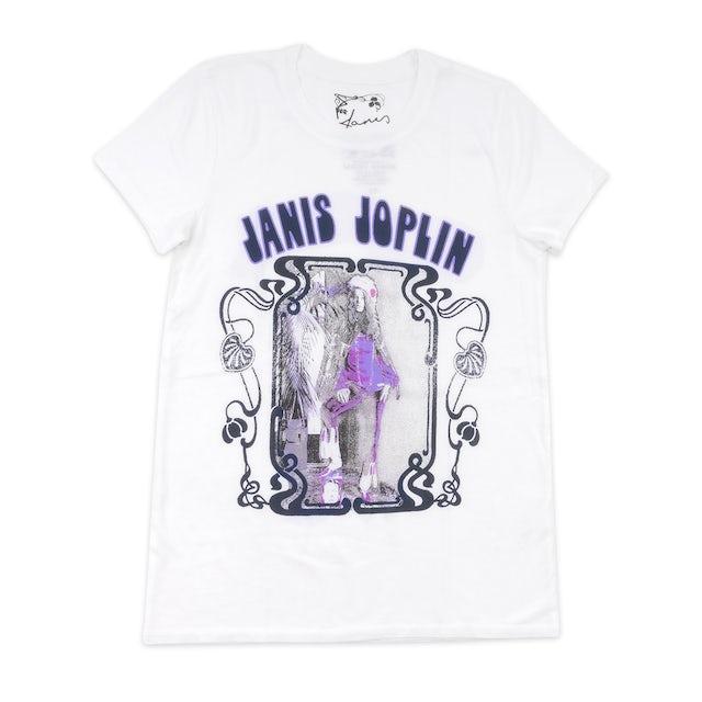 Janis Joplin Purple and White T-shirt
