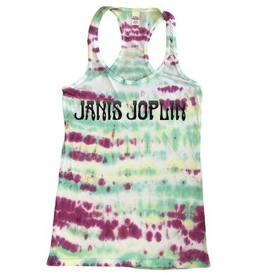 Janis Joplin Tie-Dye Logo Women's Racerback Tank Top