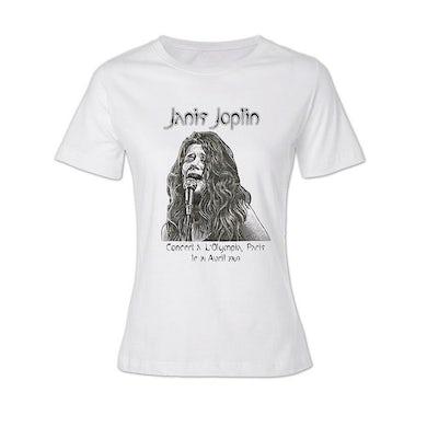 Janis Joplin Olympia Paris Ladies T-Shirt