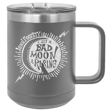 John Fogerty Bad Moon Wolf Laser Engraved Travel Mug