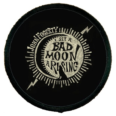 John Fogerty Bad Moon Wolf Round Patch