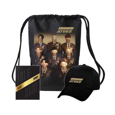Ateez Treasure A Ver. Package Black Edition & Golden Logo Hat & Bag