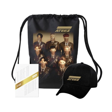 Ateez Treasure Z Ver. Package White Edition & Golden Logo Hat & Bag