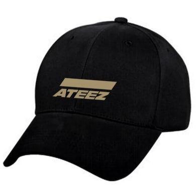 ATEEZ Golden Logo Black Baseball Cap