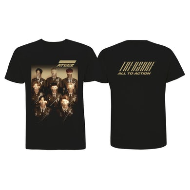 ATEEZ Treasure Men's Black T-shirt