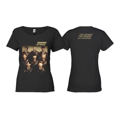 ATEEZ Treasure Ladies Black T-shirt