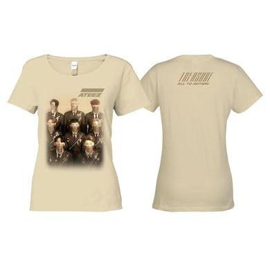 ATEEZ Treasure Ladies Tan T-shirt