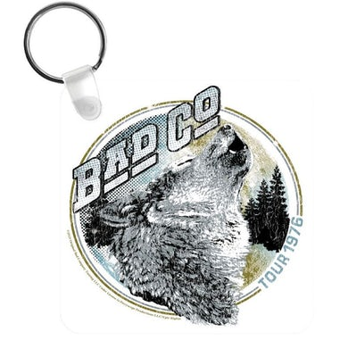 Bad Company Tour 76 Wolf Keychain