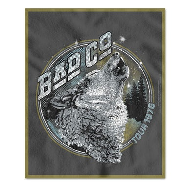 Bad Company 1976 Tour Fleece Blanket