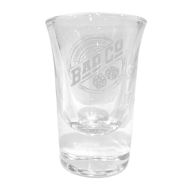Bad Company Straight Shooter '75 Laser Engraved Shot Glass
