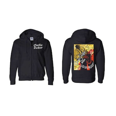 Charlie Parker Chasin' The Bird Noteworthy Graphic Zip Hoodie
