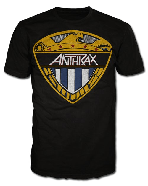 Official Anthrax Eagle Shield Unisex T-Shirt Fistful Metal Among Living Worship