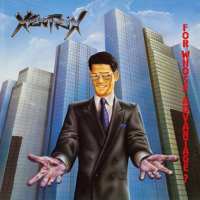 Xentrix FOR WHOSE ADVANTAGE? (LIMITED/TRANSPARENT BLUE VINYL/180G/INSERT/NUMBERED/IMPORT) Vinyl Record