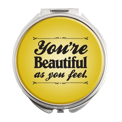 "Beautiful Logo Compact Mirror  2.75"" D"