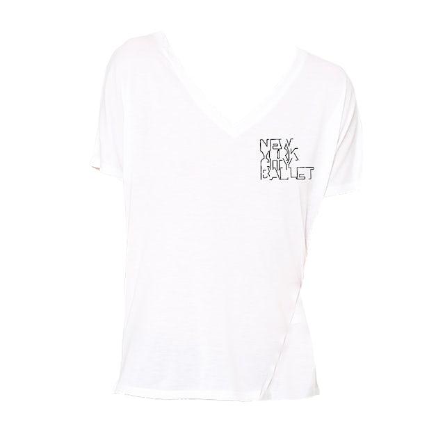 NYC Ballet Womens V-Neck Logo Tee