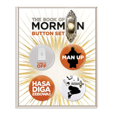 The Book of Mormon Button Card Set
