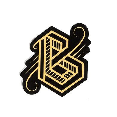 Phantogram BIG GRAMS Gold Logo Sticker