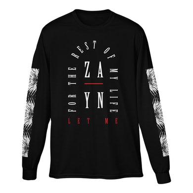 Zayn Let Me Long Sleeve Tee (Black)
