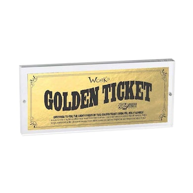 Charlie and the Chocolate Factory Tour Golden Ticket Holder