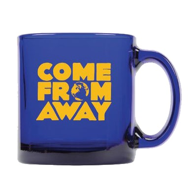 Come From Away Blue Glass Logo Mug