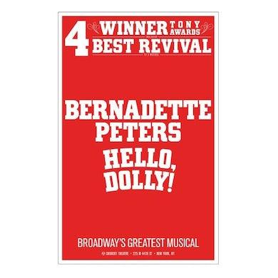 Hello Dolly Bernadette Peters Windowcard