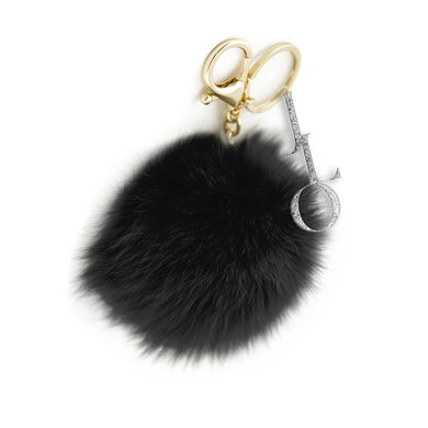 Jennifer Lopez JLO Black Poof Keychain