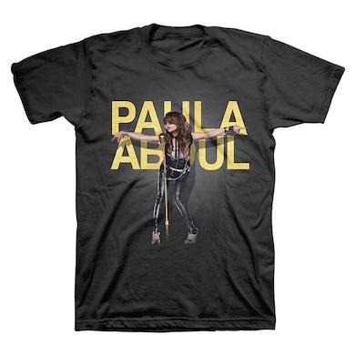 Paula Abdul Unisex Gold Foil Text Tee
