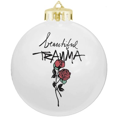 Pink Beautiful Trauma Rose Ornament