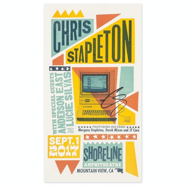 Signed Chris Stapleton Show Poster – Mountain View, CA 9/1/17