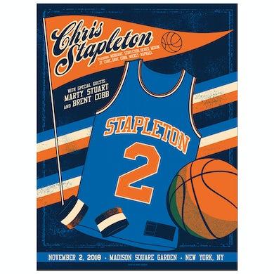 Chris Stapleton Show Poster – New York, NY 11/2/18