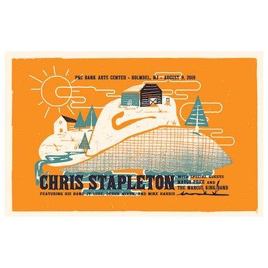 Chris Stapleton Show Poster – Holmdel, NJ 8/9/19