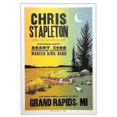 Chris Stapleton Show Poster – Grand Rapids, MI 8/16/19