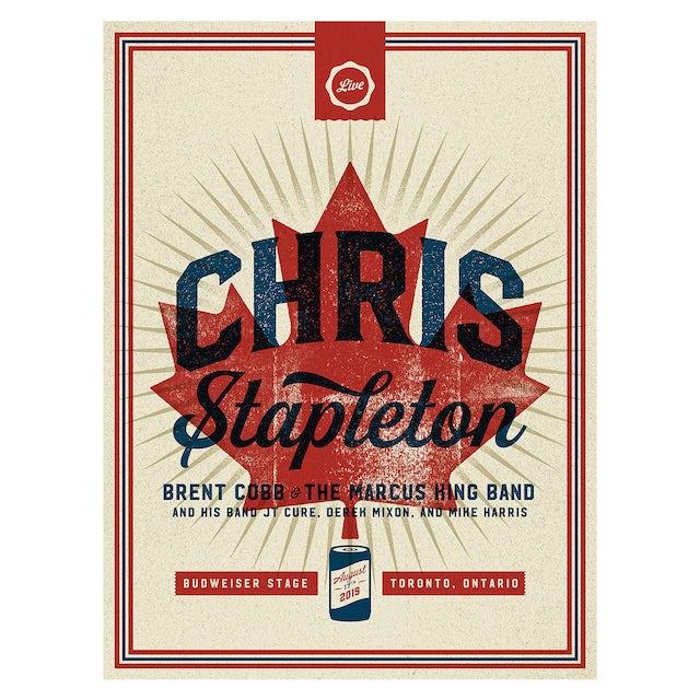 Chris Stapleton Show Poster – Toronto, ON 8/17/19