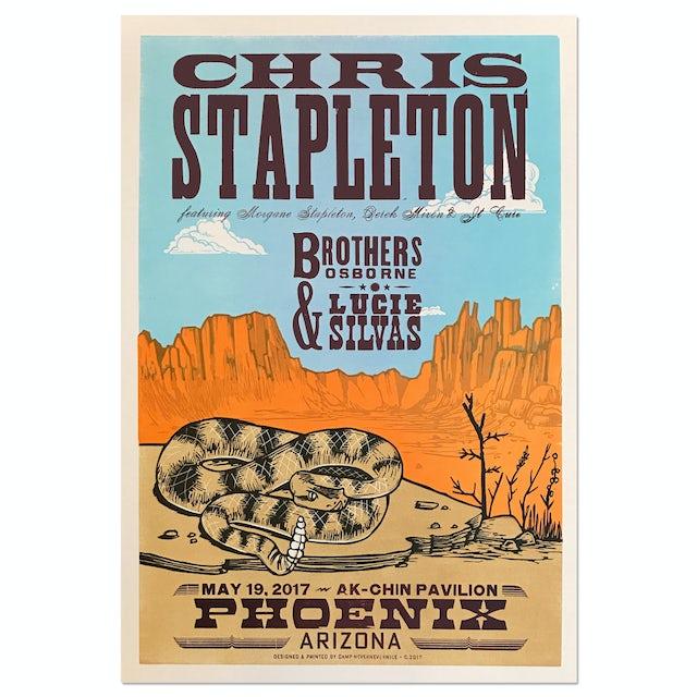 Chris Stapleton Show Poster – Phoenix, AZ 5/19/17