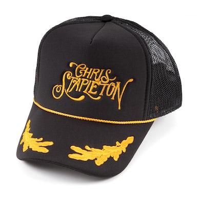 Chris Stapleton Stapleton Script w/ Gold Leaves Mesh Trucker Hat