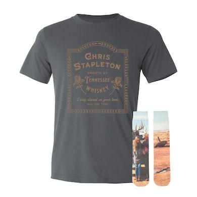 Chris Stapleton Tennessee Whiskey Lyric Tee + Traveller Socks Bundle