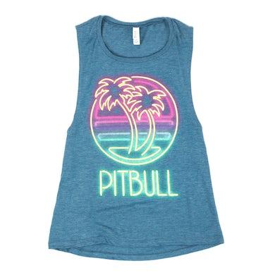 Pitbull Palm Tree Muscle Tank
