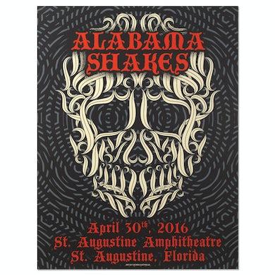 Alabama Shakes Show Poster - St. Augustine, FL 4/30/2016