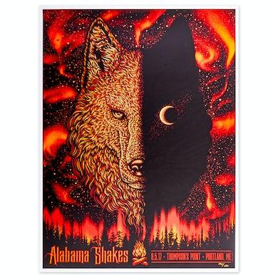 Alabama Shakes Portland, ME 8/5/17 Show Poster